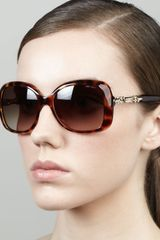 Jimmy Choo Wiley Chaindetail Square Sunglasses - Lyst
