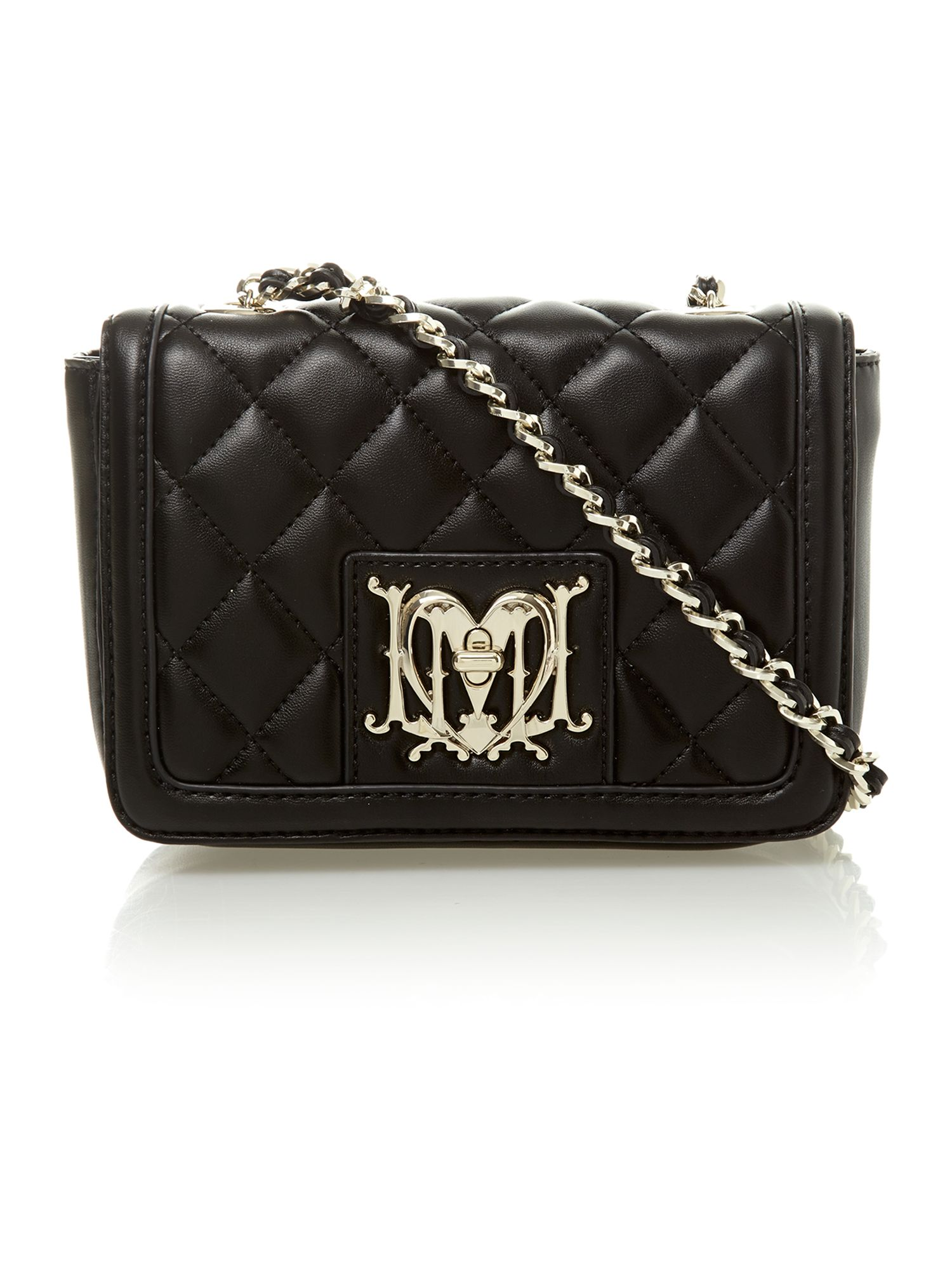Love Moschino Super Quilted Mini Crossbody Bag In Black Lyst