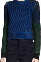 Proenza Schouler Cropped Ombre Sleeves Sweater - Lyst