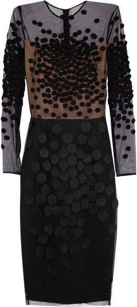 Stella McCartney Spot Appliquãd Tulle Dress - Lyst