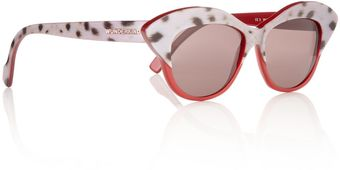 Wunderkind Purple Ocelot Cateye Sunglasses - Lyst