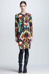 Jean Paul Gaultier Butterflyprint Longsleeve Dress - Lyst