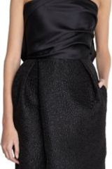 Lanvin Bow Back Brocade Skirt Strapless Dress - Lyst