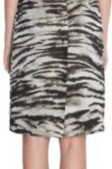 Lanvin Zebra Jacquard Sheath Dress - Lyst