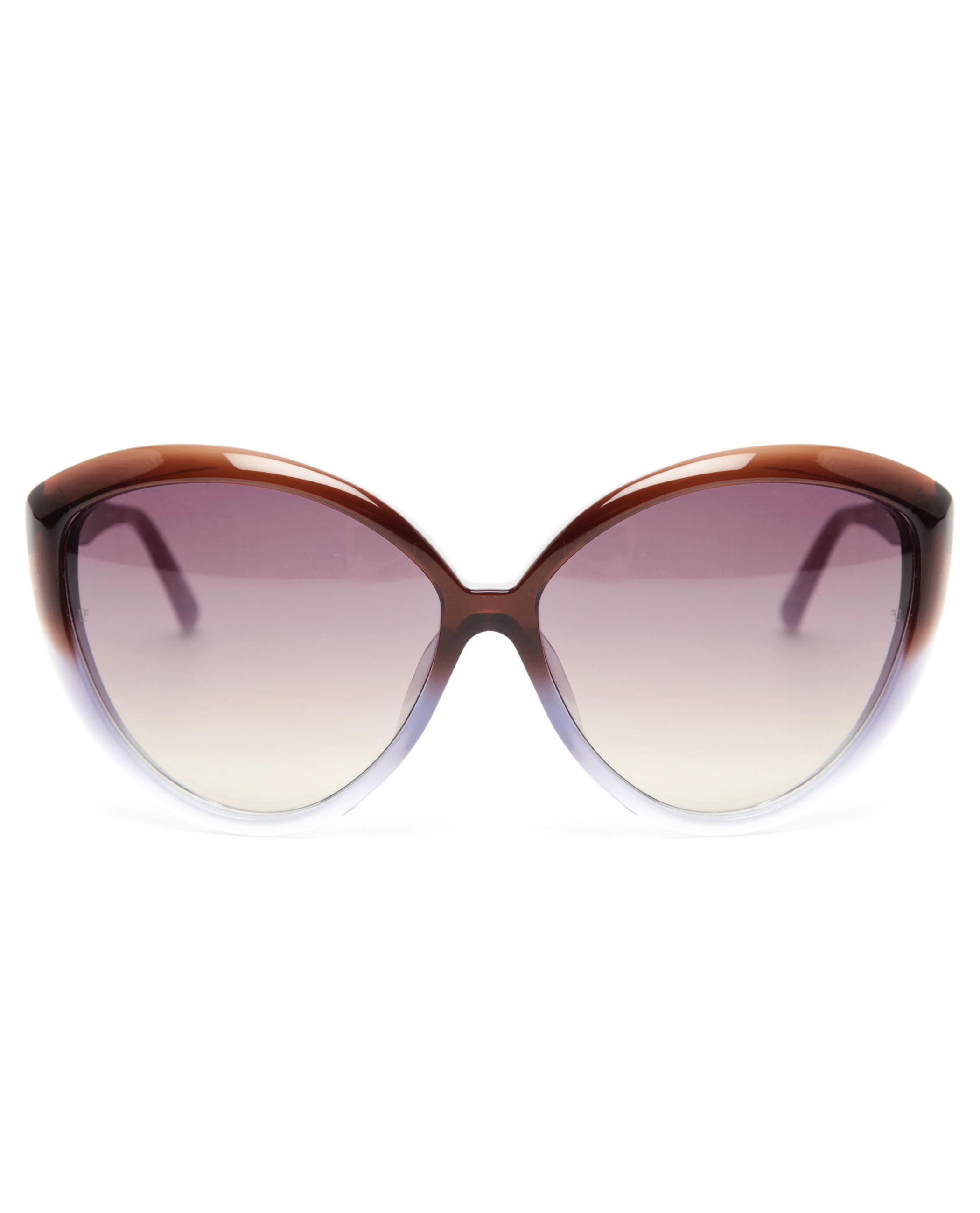 038fb5624b Linda Farrow Oversized Cat-eye Acetate Sunglasses in Brown - Lyst