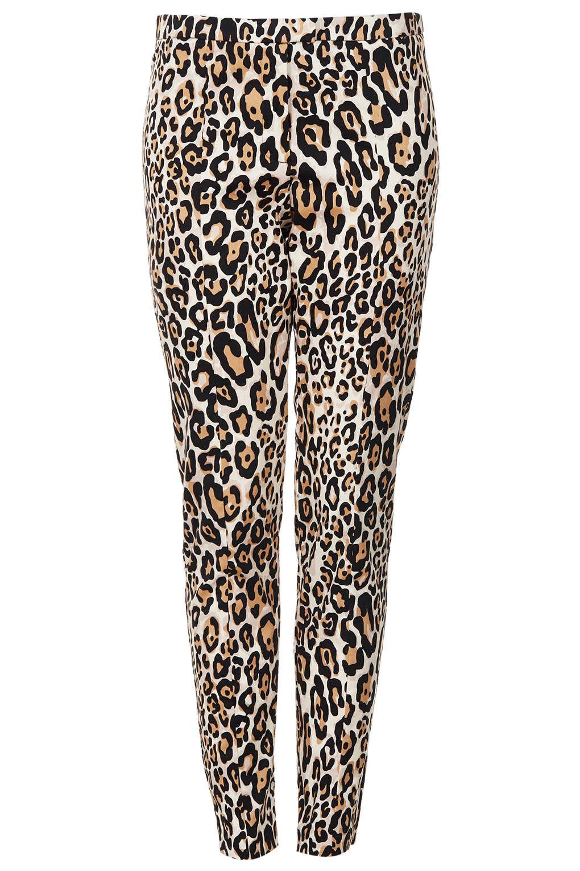 70ebab83aae7 TOPSHOP Animal Print Skinny Trouser - Lyst