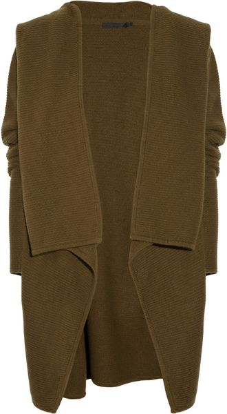 Donna Karan New York Cozy Hooded Cashmere Cardigan - Lyst