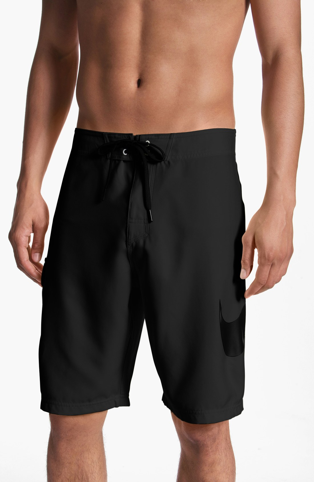 Nike Scout Swoosh Board Shorts in Black for Men (black ...
