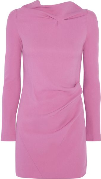 Roland Mouret Samiel Ruched Stretch crepe Dress - Lyst