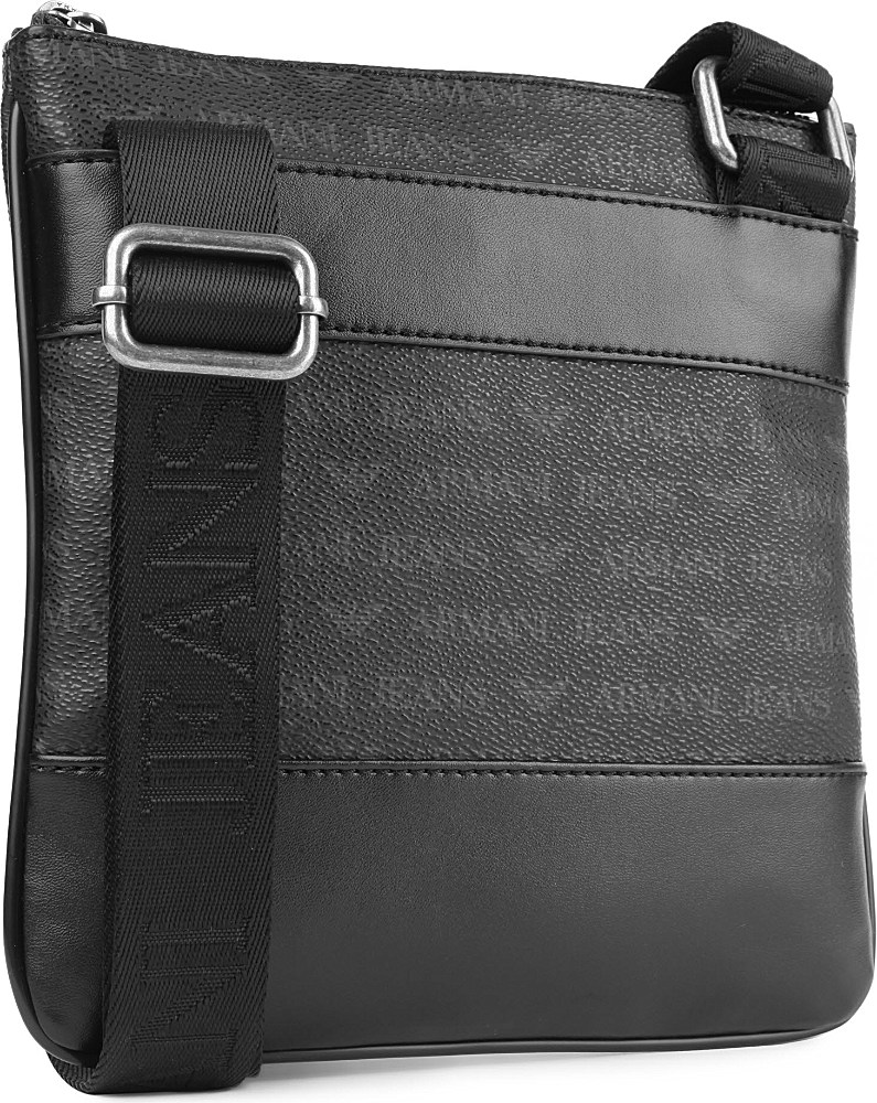Armani jeans Small Logo Messenger Bag in Black for Men | Lyst