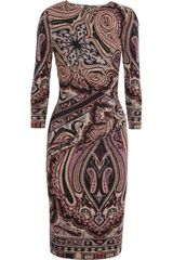 Etro Printed Stretch jersey Dress - Lyst