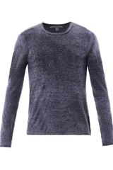 John Varvatos Silk Cashmere Fine Knit Sweater - Lyst