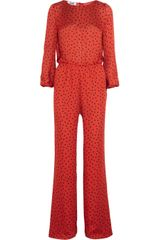Moschino Cheap & Chic Polka-dot Print Silk Jumpsuit - Lyst