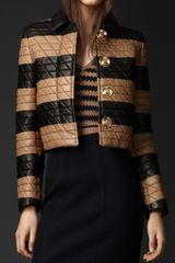 Burberry Prorsum Geometric Stitch Plongé Leather Jacket - Lyst