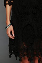 Free People Mi Amore Lace Dress in Black - Lyst