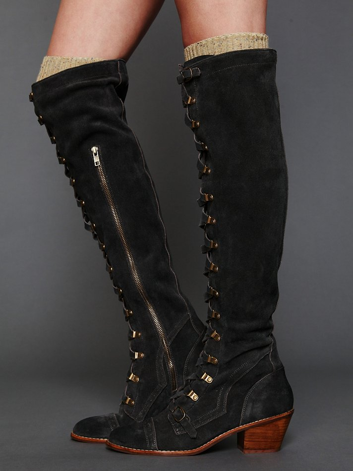 e331d2d9857 Lyst - Free People Johnny Tall Boot in Black