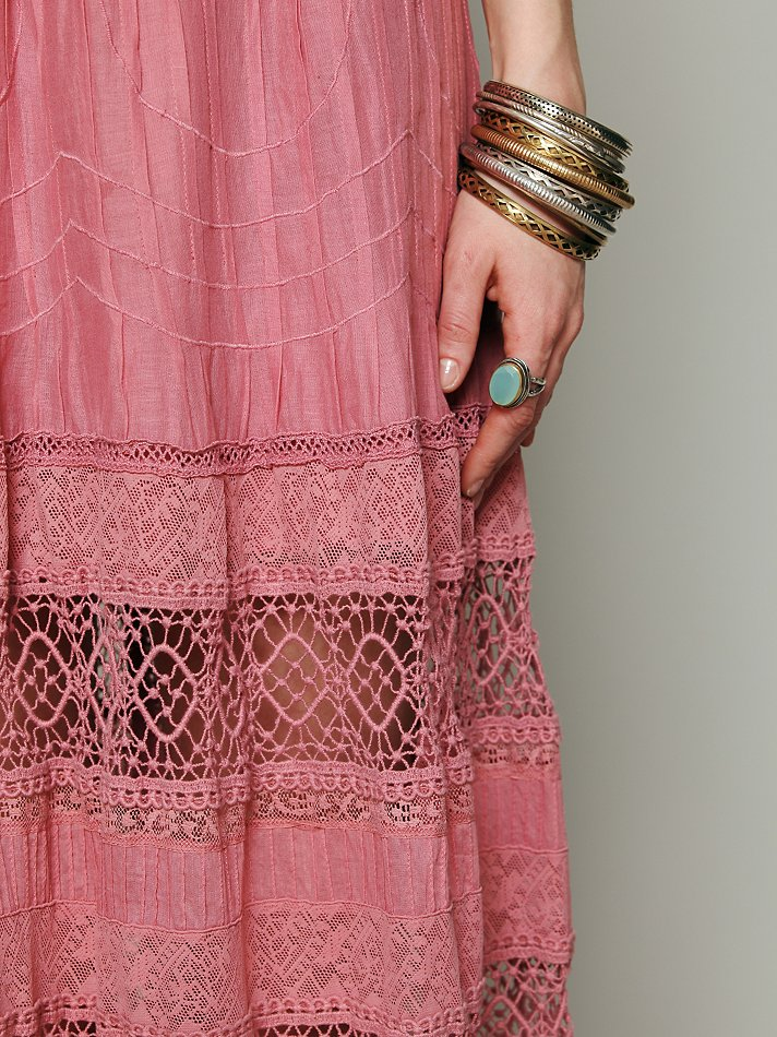 Lyst Free People Mix In The Crochet Dress In Pink