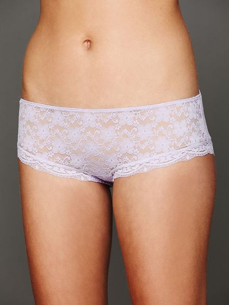 Free People Lacey Basic Hipster Brief in White (Peri)