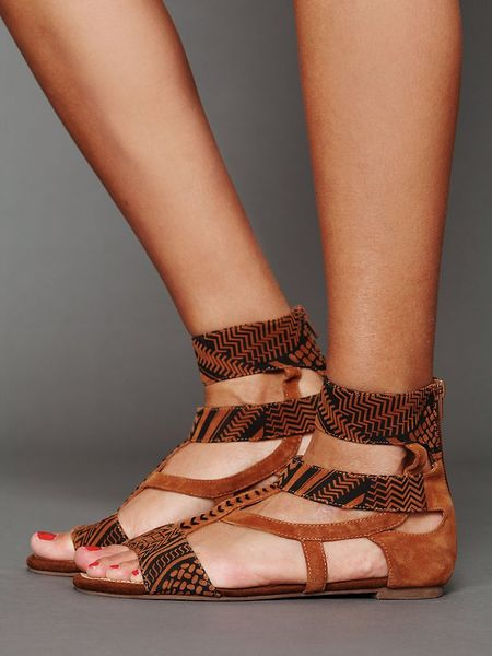 Jeffrey Campbell Ivy Ankle Sandal In Brown Tan Black Lyst