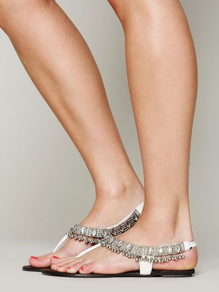 Free People Charmer Sandal in White (White/White)