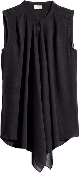 H&M Sleeveless Matt Chiffon Blouse - Lyst