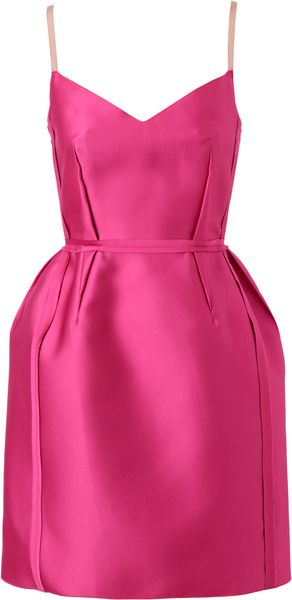 Lanvin Technosatin Cocktail Dress - Lyst