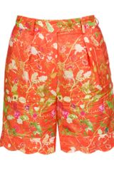 Opening Ceremony Floral Printed Cottonsilk Shorts - Lyst