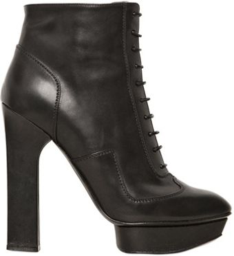 Alexander McQueen 130mm Calfskin Laced Up Low Boots - Lyst