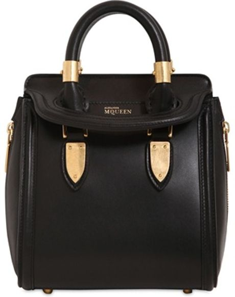 Alexander Mcqueen Mini Heroine Metal Plaque Shoulder Bag ...