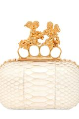 Alexander McQueen Angels Python Knuckle Box Clutch - Lyst