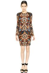 Alexander McQueen Printed Viscose Jersey Dress - Lyst