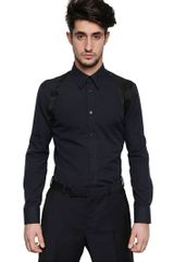 Alexander McQueen Heavy Cotton Oxford Harness Shirt - Lyst