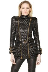 Balmain Long Quilted Perfecto Jacket - Lyst
