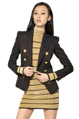 Balmain Viscose Brocade Jacket - Lyst