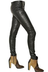 Belstaff Quilted Stretch Nappa Leather Trousers - Lyst