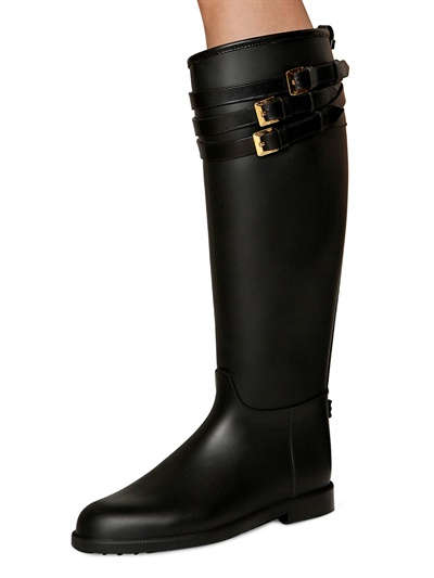 Lyst Burberry 20mm Rippon Rubber Rain Boots In Black