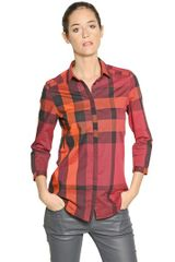 Burberry Brit Checked Washed Cotton Shirt - Lyst