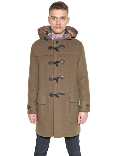 15dd512aa7 Burberry Brit - Natural Wool Montgomery Coat for Men - Lyst