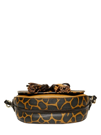 Burberry Maydown Haymarket Animal Print Bag In Brown Lyst