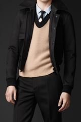 Burberry Studded Collar Bomber Jacket - Lyst