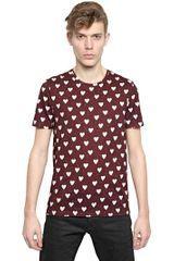 Burberry Prorsum Hearts Printed Cotton Jersey T-shirt - Lyst