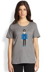 Burberry Prorsum Police Officerprint Cotton Jersey Tee - Lyst