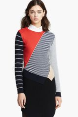 Carven Multicolored Knit Pullover - Lyst