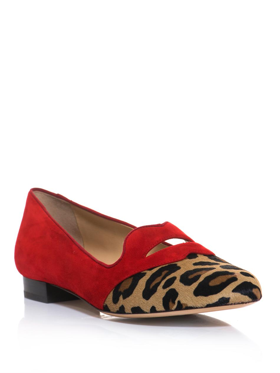 Charlotte Olympia Bisoux Suede Flats clearance in China with credit card for sale WmZOf