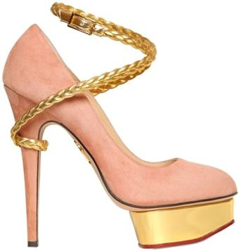 Charlotte Olympia 150mm Dolly Suede Pumps - Lyst