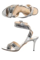 Charlotte Olympia Take 85 Metallic Leather Sandals - Lyst