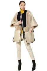 Chloé Reversible Patchwork Shearling Cape - Lyst