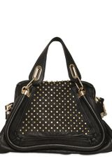 Chloé Paraty Military Studded Leather Bag - Lyst