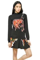Christopher Kane Lightning Strike Wool Knit Sweater - Lyst