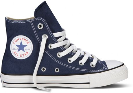 Converse High Top Sneakers Navy In Blue Navy Lyst